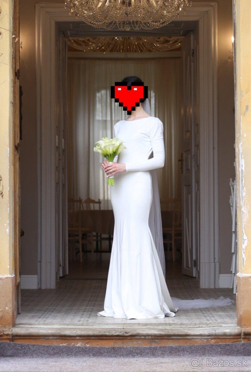 predám jednoduché svadobné šaty - Obrázok č. 1