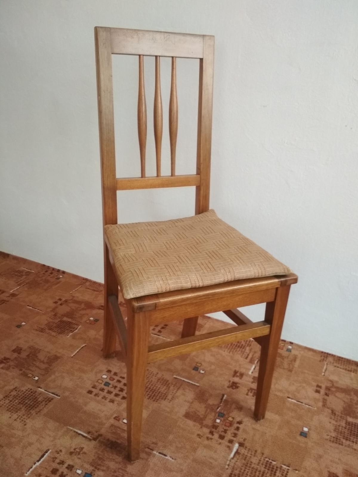 4 drevené stoličky - retro - Obrázok č. 3