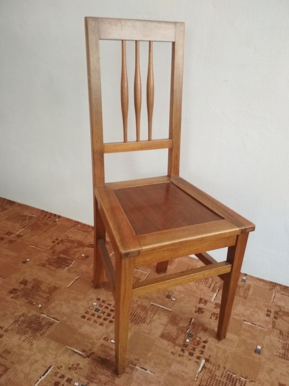 4 drevené stoličky - retro - Obrázok č. 4