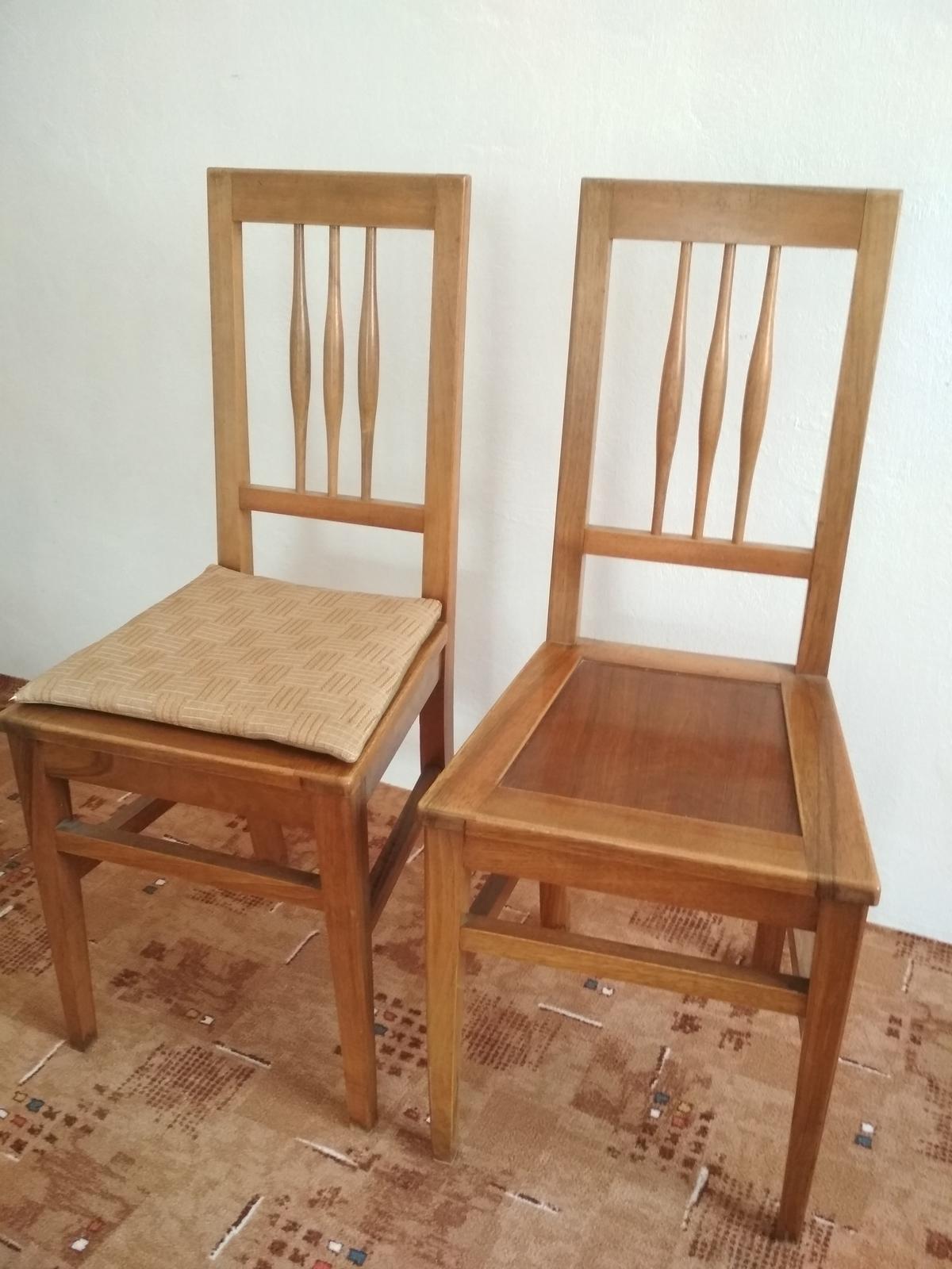 4 drevené stoličky - retro - Obrázok č. 1