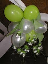 Tak už mám jasno, půjdeme do zelinkavé...tyto balonky a dekorace jsou úžasné...omlouvám se zakopii !!