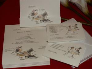 Na dlouhé zimní večery jsme si objednali práci :-)) ale krásnou práci :-)) ještě napsat monogramy na obálky a trochu došperkovat ... a můžou se posílat :))