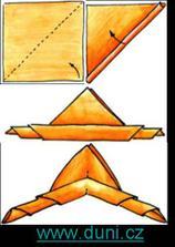 jednoduché a efektní, navíc použiji dva různobarevné ubrousky