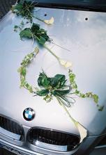 auto ženicha,maximální spokojenost se všemi kytkami.