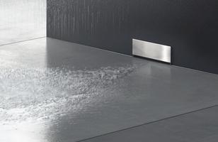 Sprchové prvky Geberit s odtokom do steny /veľmi dobrý nápad :)