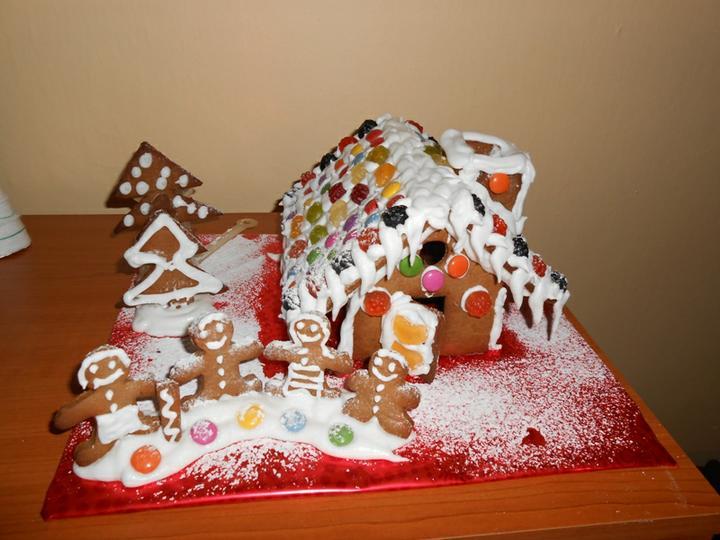 Vianoce šalala - náš prvý vianočný výtvor :)))