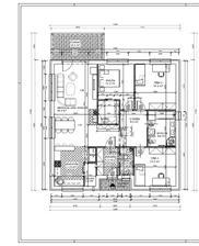 Domček má 120m2, 4-izby, kuchyňa je spojená s jedálňou a s obývacou miestnosťou.Pri spálńi sa nachádza šatník.