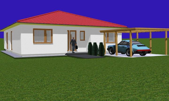 Náš domček - To je iba 3D návrh, v skutočnosti strecha a fasáda bude v inej farbe.