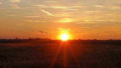 Dnesny zapad slnka :)) priamo z buducej terasy :)