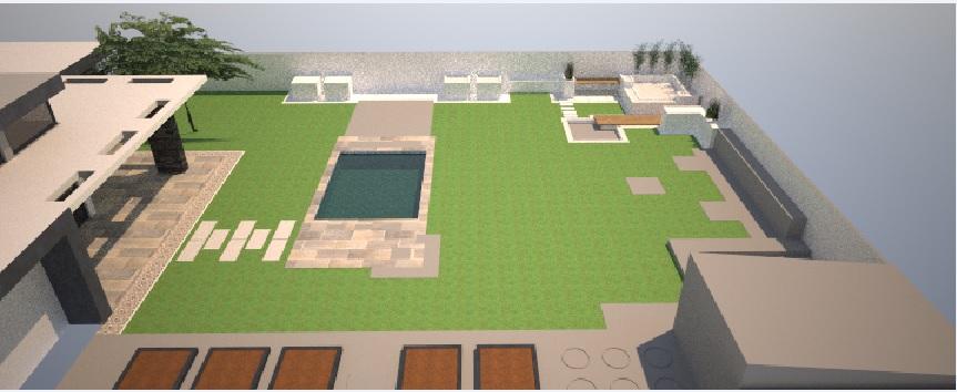 Modern Garden Linear324 - naša prímorská - takto to vyzeralo na zaciatku, vela sa zmenilo...