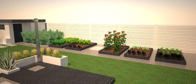 Modern Garden Linear324 - naša prímorská - pohlad na uzitkovu zahradku