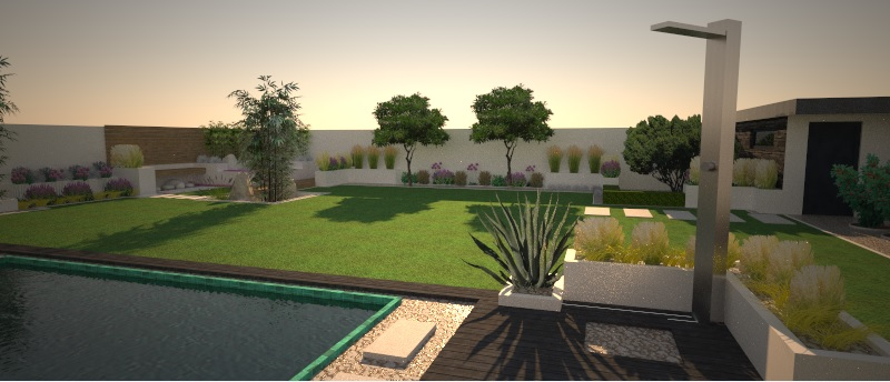 Modern Garden Linear324 - naša prímorská - rastlinky sa budu doplnat este, kvitnuce sa budu intervalovo prelinat pocas kvitnutia...