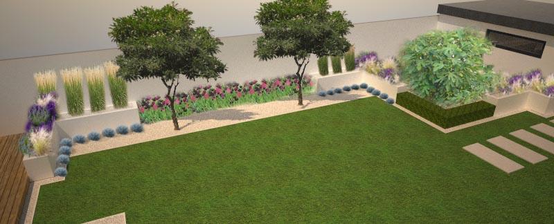 Modern Garden Linear324 - naša prímorská - najskor 2druhy tulipanov... potom dalsia foto by mali byt cesnaky so salviou, mix s levandulou, mozno este tvarovana perovskia...