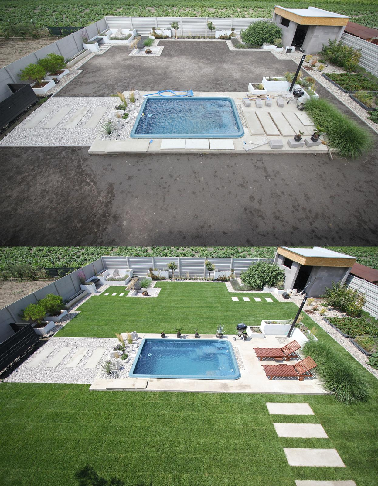Modern Garden Linear324 - naša prímorská - pre porovnanie... pred tyzdnom a dnes :)