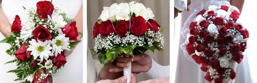 květiny v červené