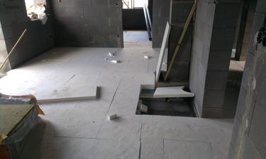 priprava na podlahove kurenie...