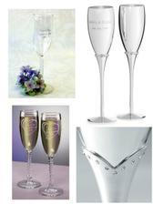 nádherné svadobné poháre
