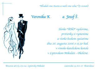 naše vlastnoručne vyrobené svadobné oznámenie