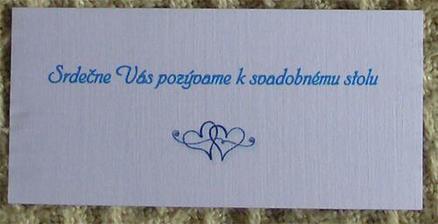 k tomu pozvánka k svadobnému stolu
