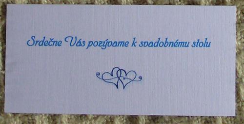 V & J . . . . . 26. august 2006 - k tomu pozvánka k svadobnému stolu