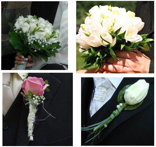 V & J . . . . . 26. august 2006 - kytica bude z tulipánov, no keď v auguste tulipány nebudú, kytica bude z ruží