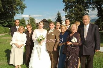 ženíchová časť rodiny