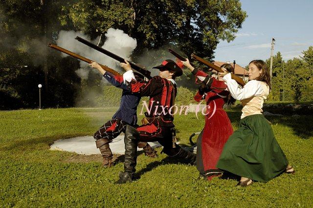 Veronika K.{{_AND_}}Jozef Š. - skupina historického šermu Corvus Arma nám zastrelila slobodu :-)
