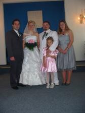 Já,Ráďa,Anetka,Jirka Veselý (Ráďi svědek) a Pavla Veselá