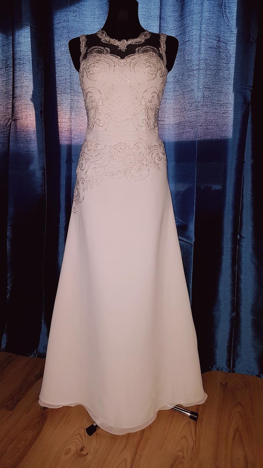 Svadobné šaty 36-38 na 172 cm - Obrázok č. 1