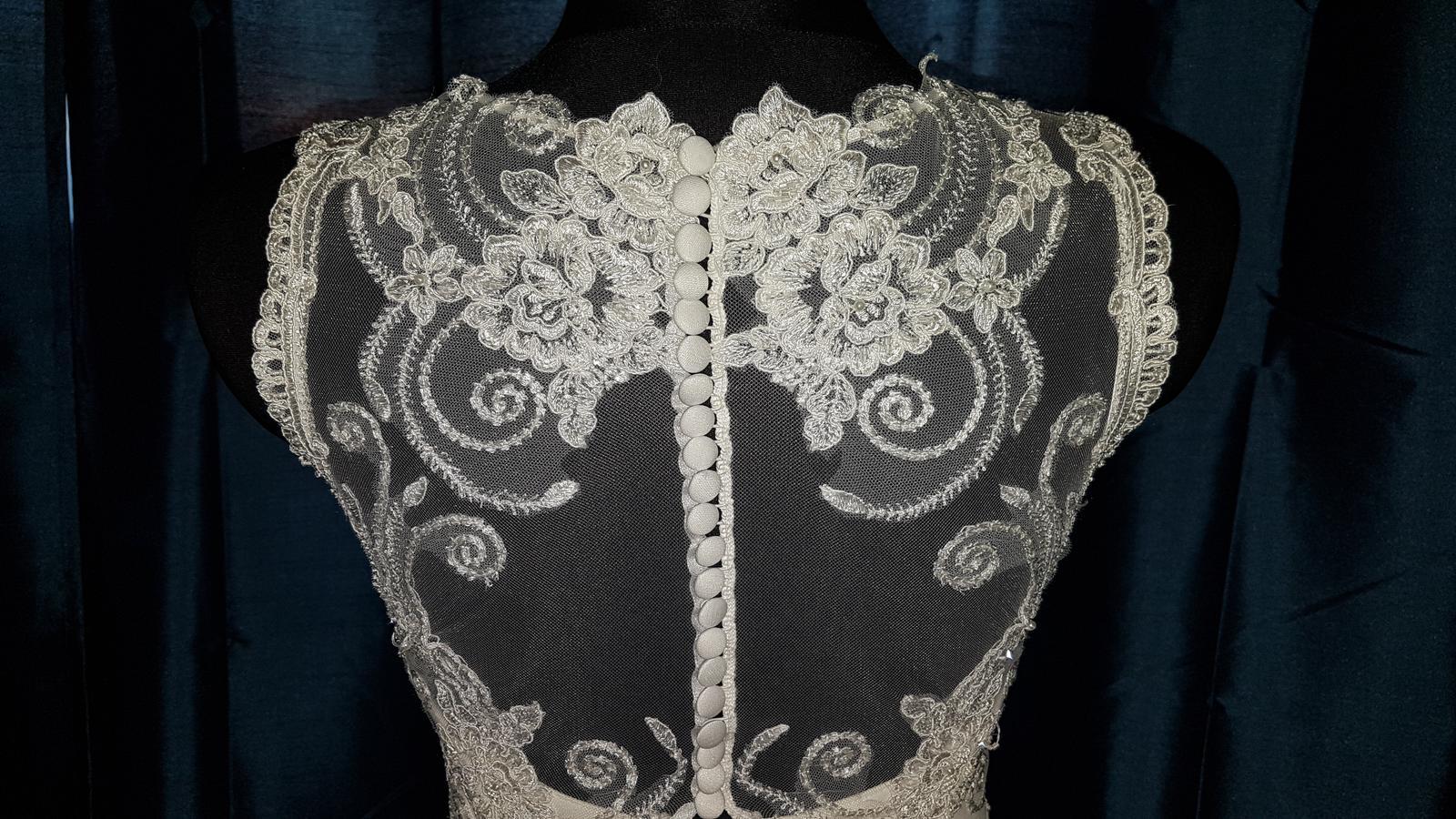 Svadobné šaty 36-38 na 172 cm - Obrázok č. 2