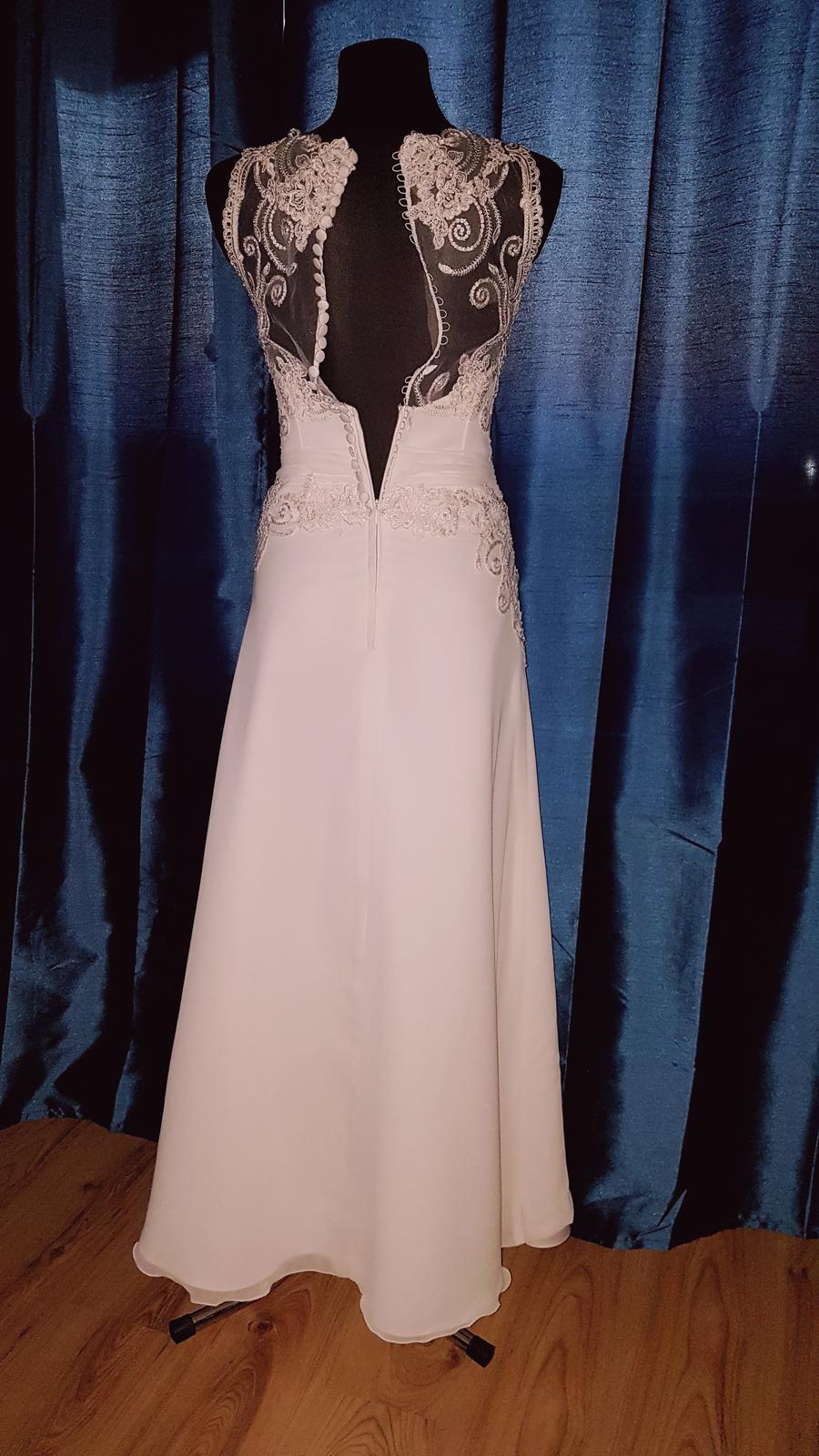 Svadobné šaty 36-38 na 172 cm - Obrázok č. 3