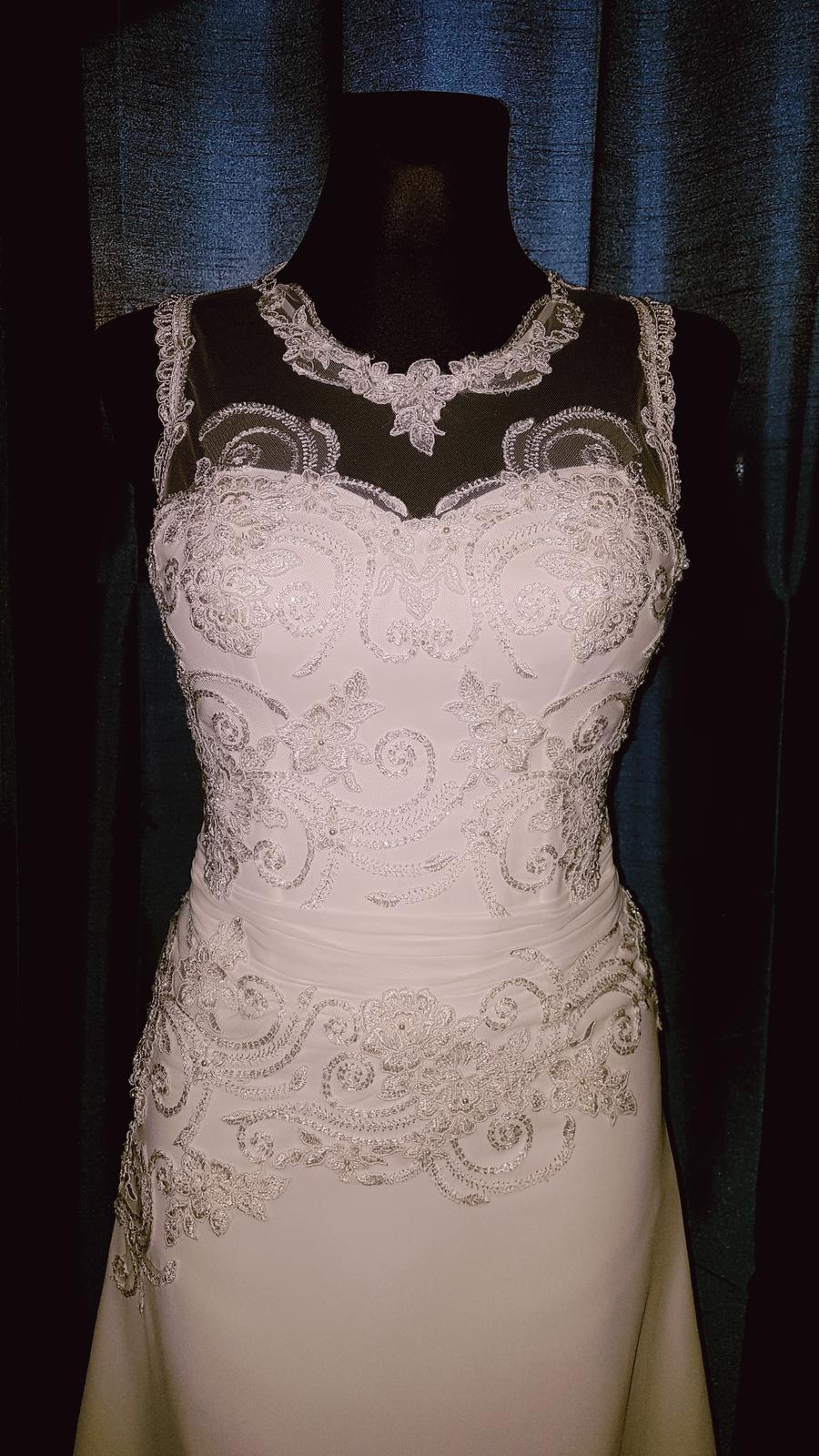 Svadobné šaty 36-38 na 172 cm - Obrázok č. 4