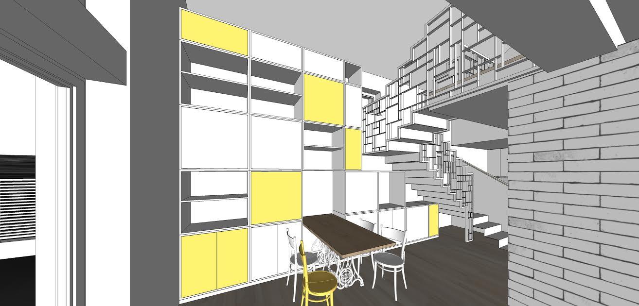 Planovanie a realizácia interieru - modulová knižnica