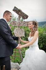 ..tabulku svadba nam vyrobila moja sikovna mamka:)