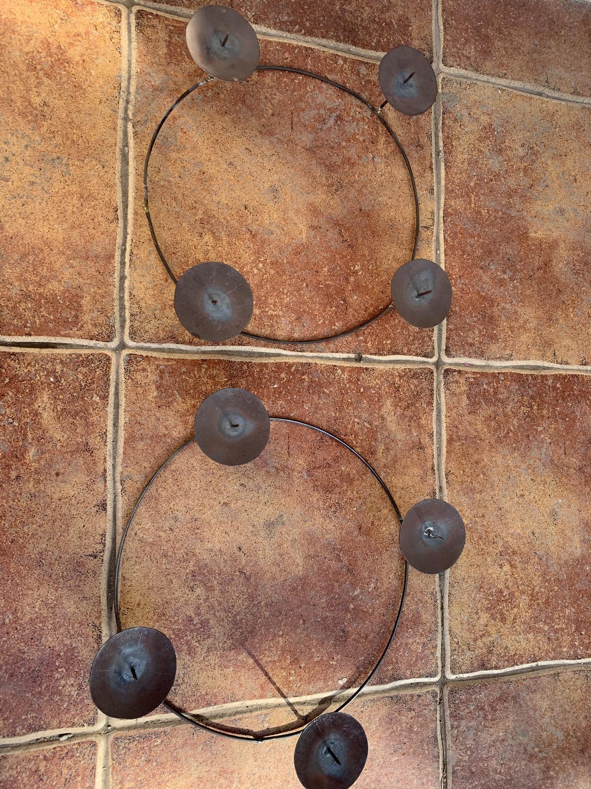 holý svietnik,alebo kruh na adventný veniec - Obrázok č. 1