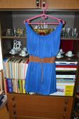 Modré letné šaty, 38