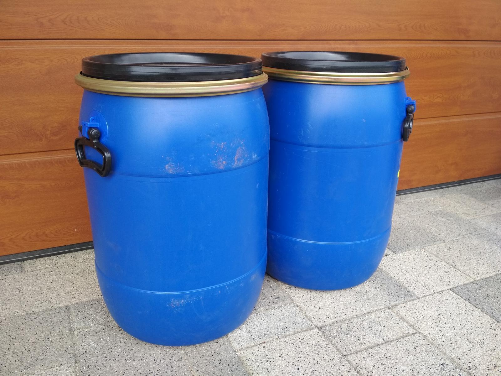 Predám 60L plastový sud s uzáverom (dovoz celá SR) - Obrázok č. 1
