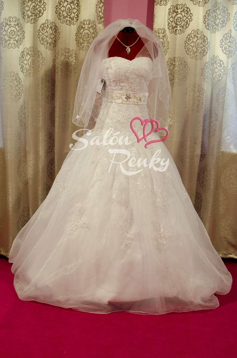 Nádherné svadobné šaty č.34 - 36 - Obrázok č. 1