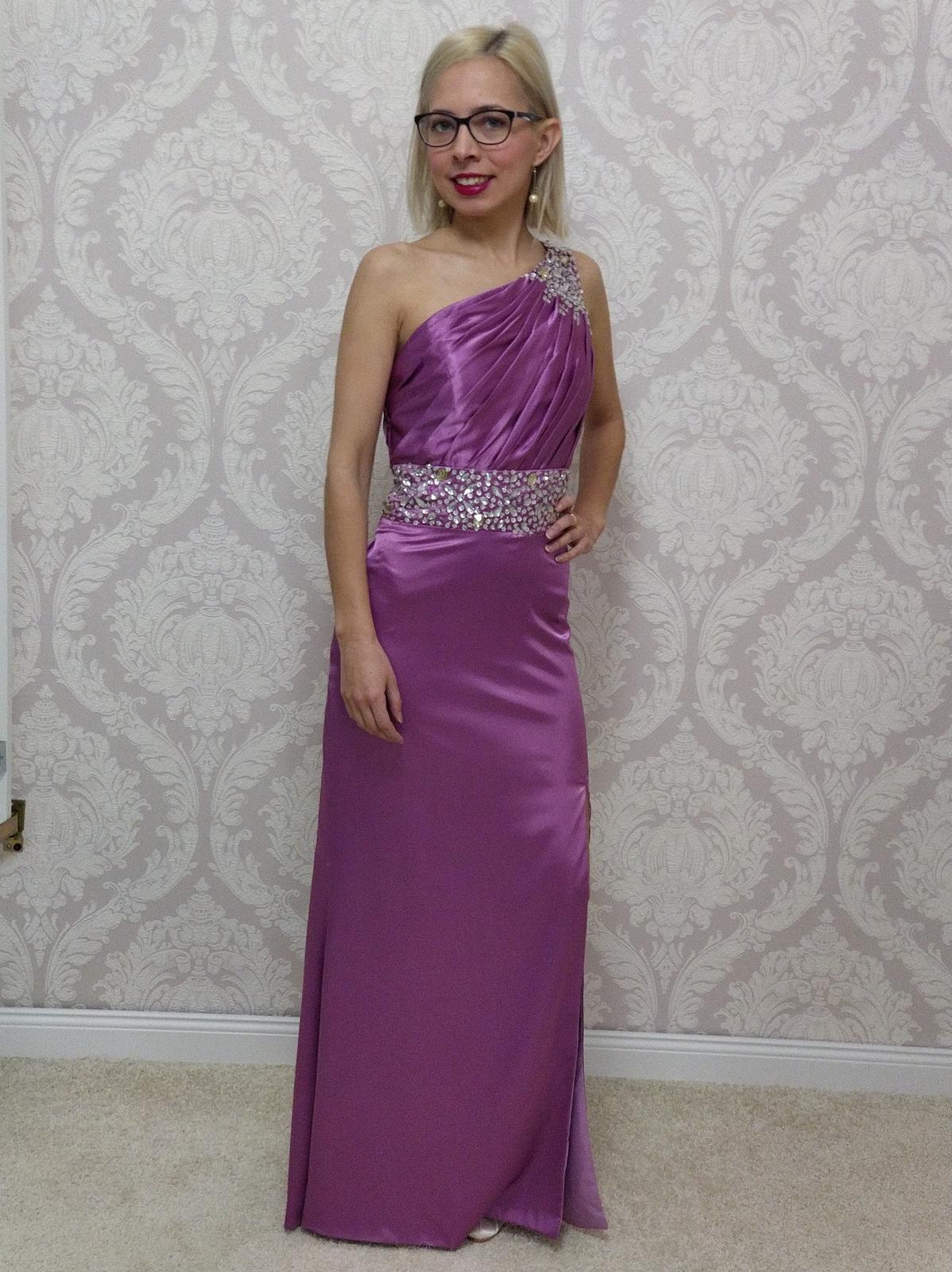 Spoločenské šaty fialové - Obrázok č. 1