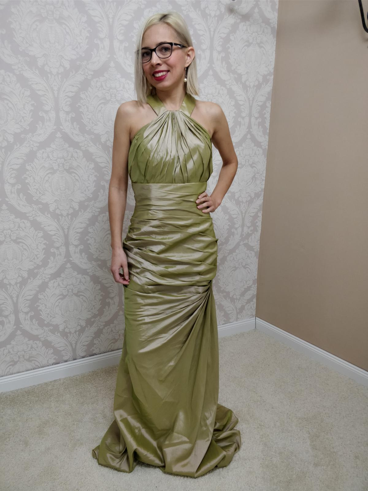 Spoločenské šaty zelené (M-L) - Obrázok č. 1