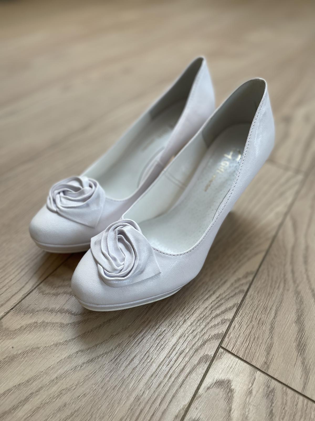 Svadobné topánky veľ 38 - Obrázok č. 1