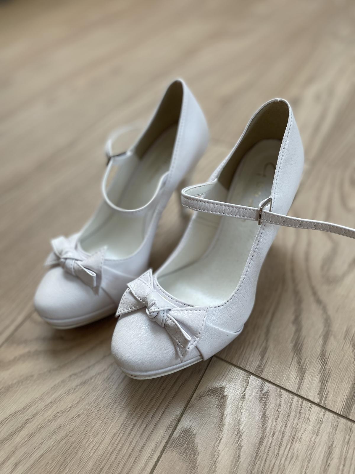 Svadobné topánky veľ. 35 - Obrázok č. 1