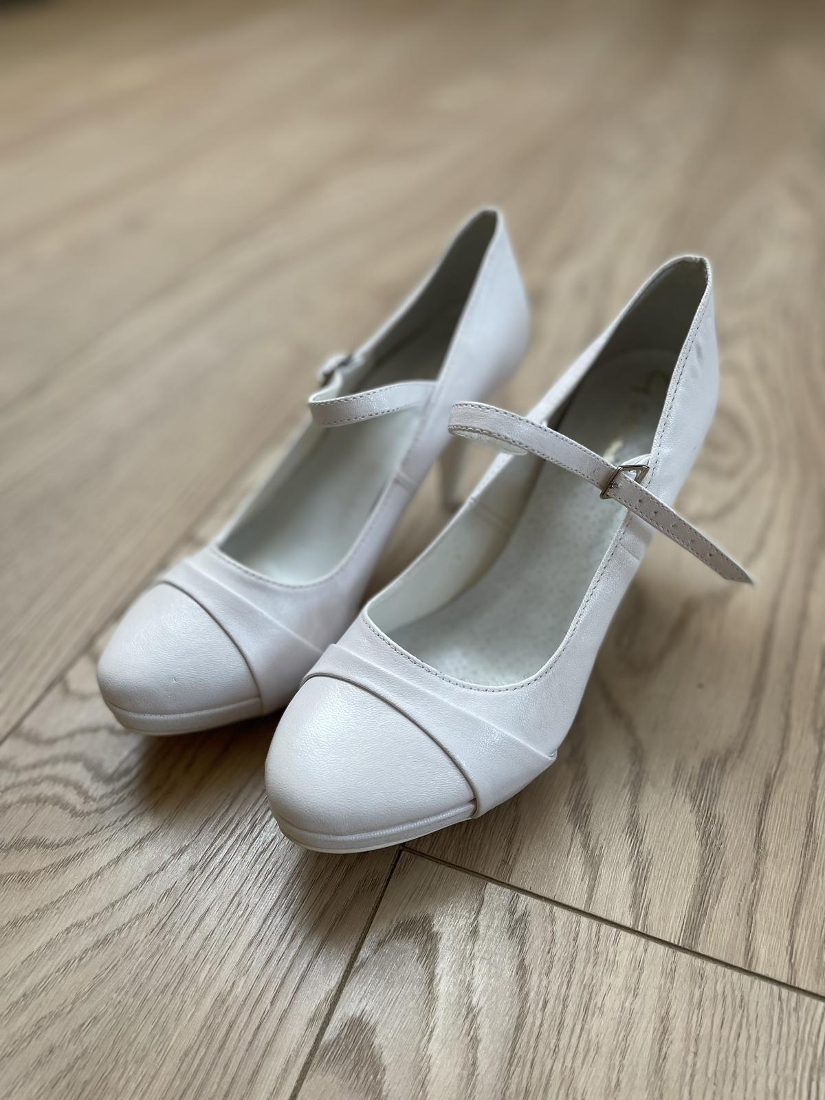 Svadobné topánky veľ. 38 - Obrázok č. 1