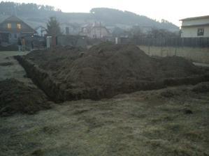 Streda 21.03.2012 ráno pečiatka na stavebné povolenie a poobede základy vykopané.
