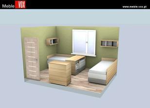objednaný nábytek pro děti do spacího pokoje