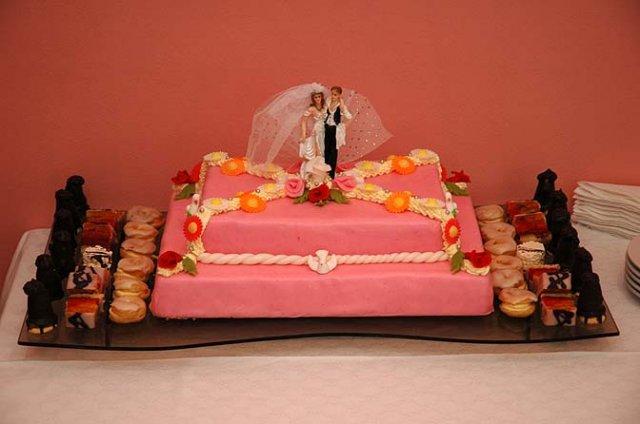 Martina{{_AND_}}David - svatební dortík