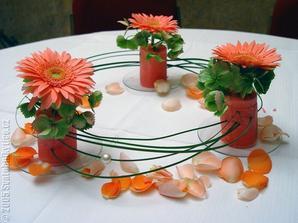 Gerbery na stoly