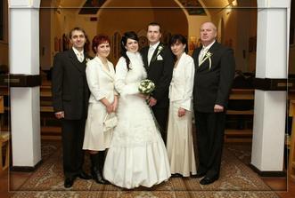 V kostole s rodičmi