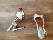 Strieborné sandalky, 39