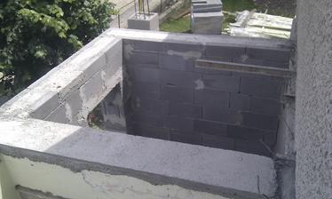 Budúca kúpelňa z hora...